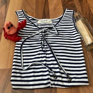 Ocean Drive Tie Front Anchor Tank - Size M